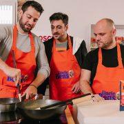 Στην ξεχωριστή εκδήλωση με live cooking από τον Chef Νικόλα Σακελλαρίου και παρουσιαστές το μοναδικό δίδυμο των Μάκη Παπαδημητρίου και Γιώργο Χρυσοστόμου ετοιμάστηκαν συνταγές με τα νέα προϊόντα