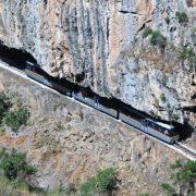 Ο οδοντωτός σιδηρόδρομος στο πάρκο Χελμού-Βουραϊκού