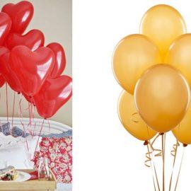 Ετοιμάστε ένα πρωινό στο κρεβάτι με κόκκινα μπαλόνια // Τα μπαλόνια σε χρυσαφί αποχρώσεις ξεφεύγουν από τα καθιερωμένα