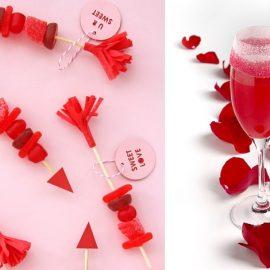 Τα βέλη του έρωτα με κόκκινες καραμελίτσες // Ένα κοκτέιλ σε ροζ-κόκκινους τόνους για να γιορτάσετε τον έρωτά σας!