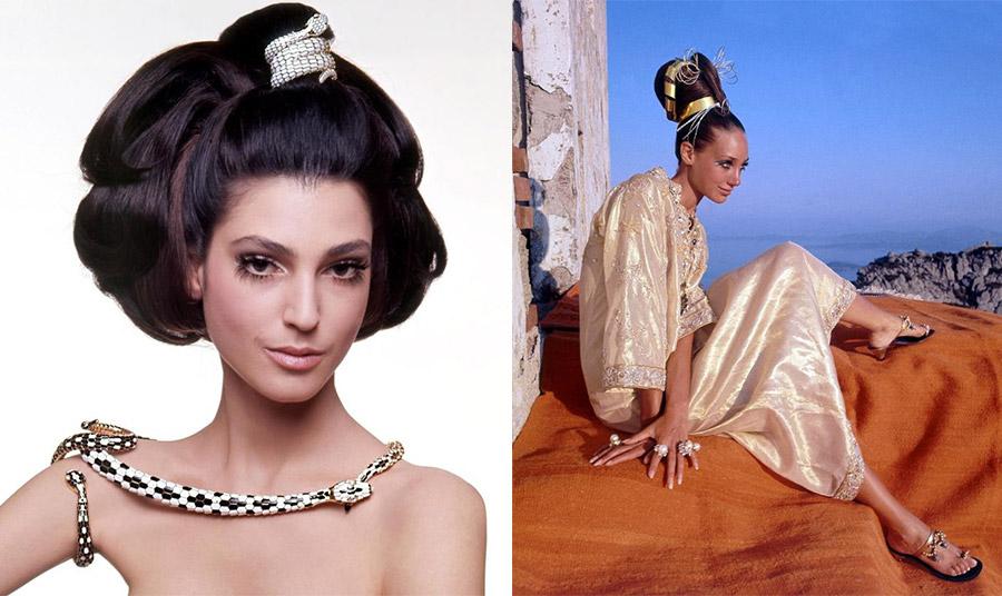 Τα πολύ «φουσκωτά» μαλλιά της Bendetta Barzini (αριστερά) και της Marisa Berenson (δεξιά) από τη δεκαετία του '60 ήταν πηγή έμπνευσης για την Odile Gilbert