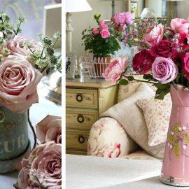 Τα τριαντάφυλλα είναι μία κλασική επιλογή. Τοποθετήστε τα σε μία παλιά εμαγιέ κανάτα για να δώσετε μία αίσθηση vintage στη διακόσμηση του σπιτιού σας