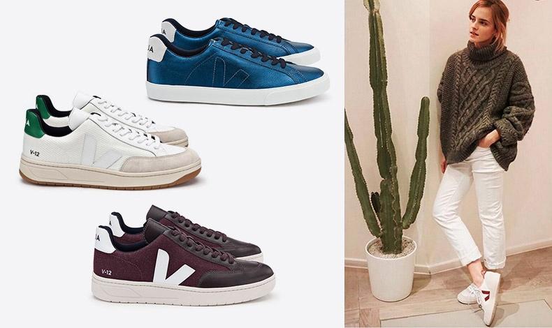 Τα αθλητικά παπούτσια της Veja είναι τα πιο στιλάτα οικολογικά αθλητικά που κυκλοφορούν αυτή τη στιγμή στην αγορά, και αγαπήθηκαν από διάσημους, όπως η Έμμα Γουότσον