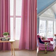 Ροζ βελούδινες κουρτίνες που δίνουν γλυκύτητα σε οποιοδήποτε χώρο // Συνδυασμός από ροζ βελούδινες πολυθρόνες σε ένα ντεκόρ γαλάζιο με λευκό, η γοητεία της θηλυκότητας