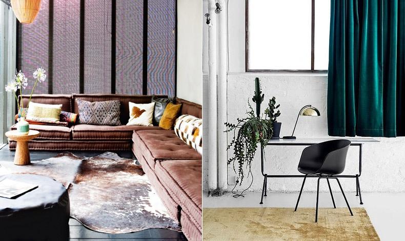 Βελούδινος καναπές ή βελούδινες κουρτίνες και χαλί;
