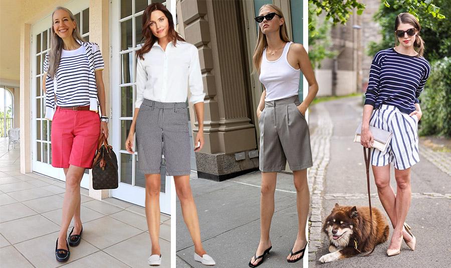 Φορέστε μία βερμούδα με χρώμα, με καρό, σε κλασική γραμμή ή με ρίγες. Συνδυάστε την με ένα απλό βαμβακερό πουλοβεράκι, με κλασικό λευκό πουκάμισο ή με ένα αμάνικο μπλουζάκι και είστε έτοιμες για μία ημέρα στην πόλη ή στις διακοπές