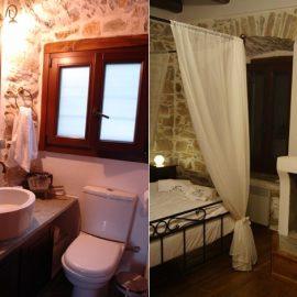Ο ξενώνας διαθέτει 4 υπνοδωμάτια και 3 μπάνια, όλα με προσοχή στη διακόσμηση και στο «χαλαρωτικό» στιλ