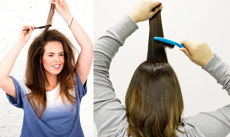 Με όποιο τρόπο και εάν θέλουμε να χωρίσουμε τα μαλλιά μας, μια χτένα με πολύ λεπτό μπράτσο είναι η καλύτερη λύση // Το κρεπάρισμα με μια χτένα με μακρύ μπράτσο είναι, ίσως, η λύση όταν θέλουμε έξτρα όγκο