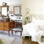 Το λευκό συνδυάζεται τέλεια με σκούρα ξύλινα έπιπλα για ένα πιο κλασικό ύφος // Λευκό δέρμα για το κρεβάτι σε? φόντο λευκό-κρεμ, κομψότητα και μοντέρνα ατμόσφαιρα