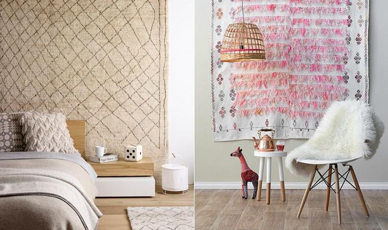 Ιδέες για να χρησιμοποιήσετε το χαλί σας στον τοίχο! Είτε ως κεφαλάρι στο κρεβάτι είτε για να «ντύσετε» έναν γυμνό τοίχο