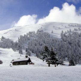Χιονισμένο τοπίο στο όρος Χελμός