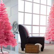 Σε μία εξαιρετικά μοντέρνα διακόσμηση, ένα ροζ δέντρο κάνει μία εντυπωσιακή αντίθεση // Ροζ και λευκό σε μία παριζιάνικη πινελιά