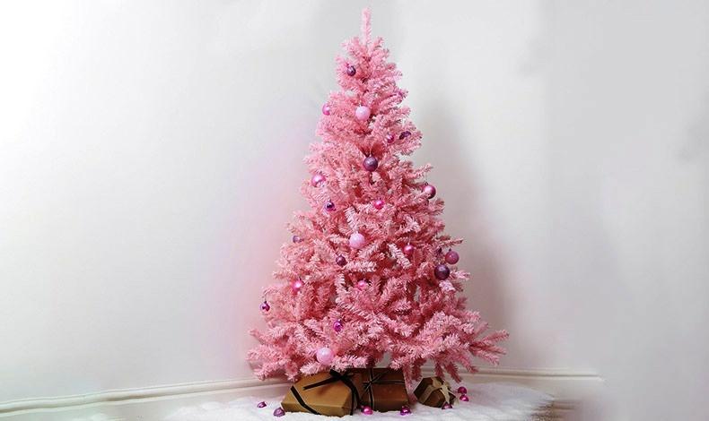 Παστέλ ροζ και μοβ για ένα χριστουγεννιάτικο δέντρο σαν ζαχαρωτό!