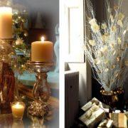 Λάμψη από το φως των κεριών και τα φωτάκια δημιουργούν γιορτινή ατμόσφαιρα // Μία μίνιμαλ και μοντέρνα εκδοχή του χρυσού