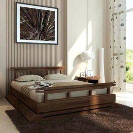 Το ξύλο καρυδιάς είναι ανθεκτικό και ξεχωρίζει για το σκούρο καφέ χρώμα του. Κατάλληλο για έπιπλα κρεβατοκάμαρας ακόμη και σε μοντέρνο στιλ