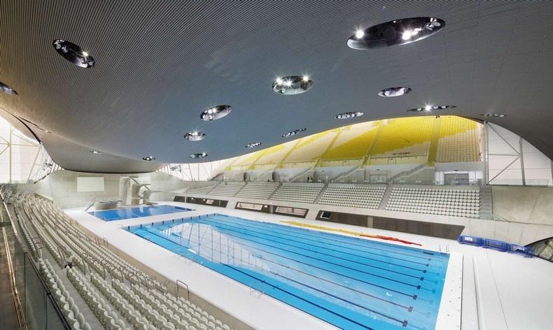 Το βραβευμένο κολυμβητήριο που έφτιαξε για τους Ολυμπιακούς Αγώνες του Λονδίνου του 2012 (φωτο: Hufton + Crow)