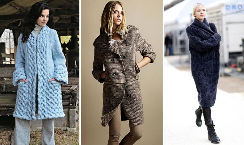 Οι μακρές και με χοντρή πλέξη ζακέτες μπορούν να φορεθούν τέλεια πάνω από τα παντελόνια μας, αντί για παλτό