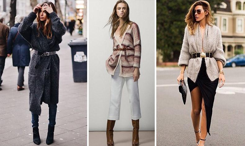 Φορέστε τη ζακέτα σας με μία ζώνη, λεπτή ή πιο φαρδιά ανάλογα με το υπόλοιπο λουκ