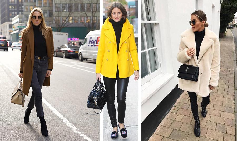 Φορέστε το μαύρο ζιβάγκο με ένα πανωφόρι καμηλό, με ζωηρό χρώμα ή σε ουδέτερους τόνους μαζί με το τζιν σας ή ένα μαύρο παντελόνι