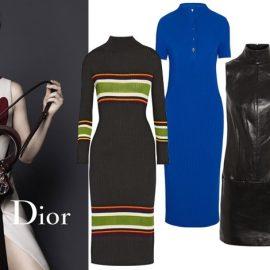 Φοριέται και σε φόρεμα: Η Jennifer Lawrence για τις τσάντες του οίκου Dior // Ριμπ με ρίγες, Suno // Σε μπλε ελεκτρίκ με κουμπιά στον λαιμό, Barbara Casasola // Δερμάτινο, Mugler // Μακρύ μαύρο φόρεμα, 1205