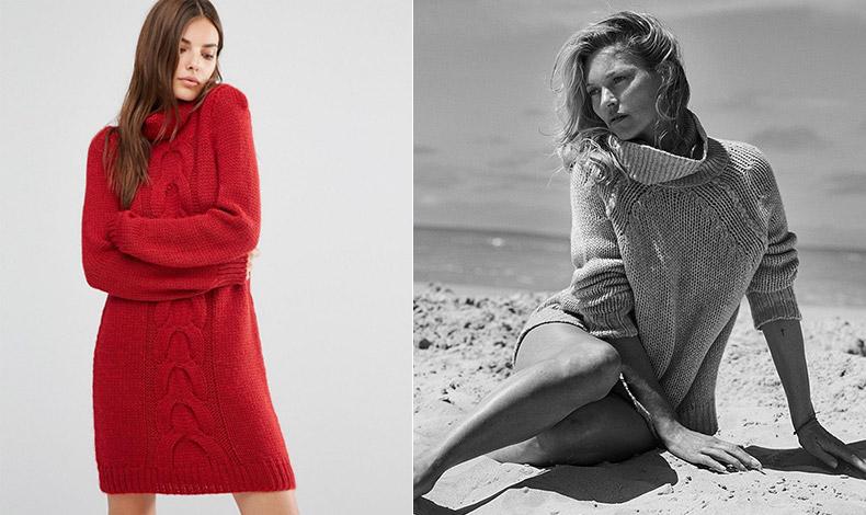 «Τυλιχτείτε» στη ζεστασιά ενός κατακόκκινου πλεκτού φορέματος ζιβάγκο // Η Κέιτ Μος με κασμιρένιο ζιβάγκο