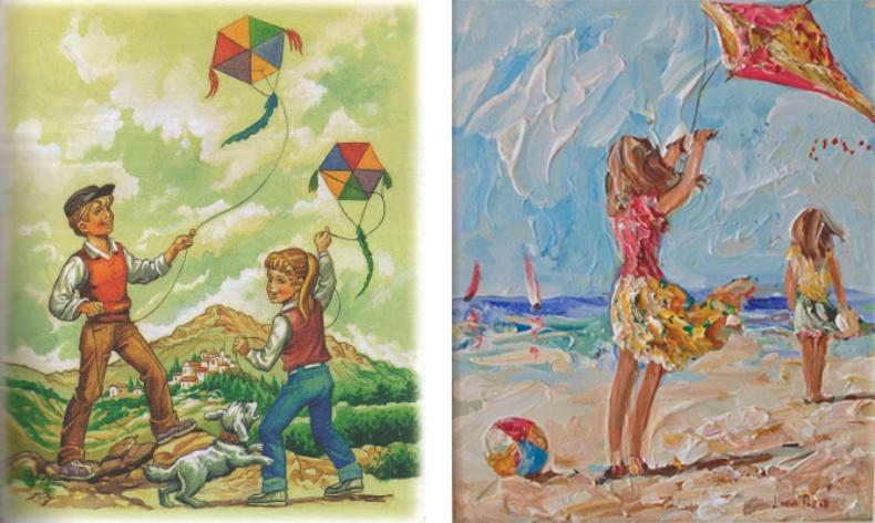 Από παιδικό γαλλικό βιβλίο της δεκαετίας του ΄60 // Πίνακας της ζωγράφου Lorna Millar