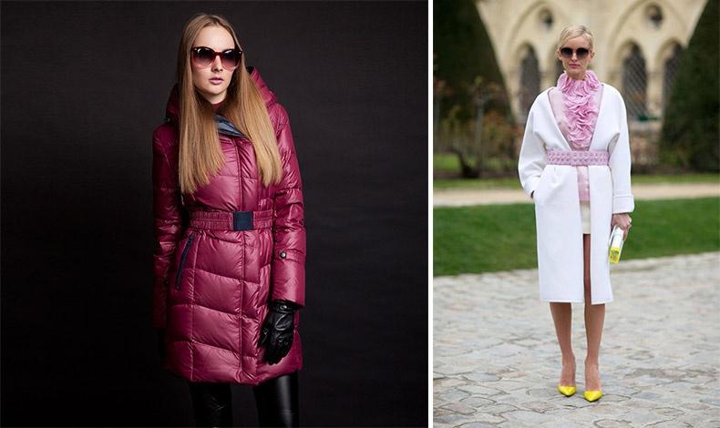 Μία φαρδιά ελαστική ζώνη ταιριάζει τόσο σε ένα πουπουλένιο μπουφάν όσο και σε ένα κομψό παλτό