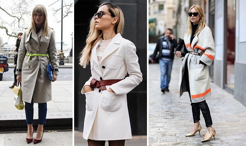 Φορέστε την γκαμπαρντίνα σας με μία διαφορετική δερμάτινη ζώνη ή δέστε ένα παλτό χωρίς κουμπιά με ζώνη