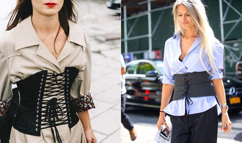 Εντυπωσιακή εκδοχή που θυμίζει παλαιότερες εποχές αλλά σε μοντέρνο συνδυασμό με ένα shirt dress // Φορεμένη πάνω από ένα απλό πουκάμισο