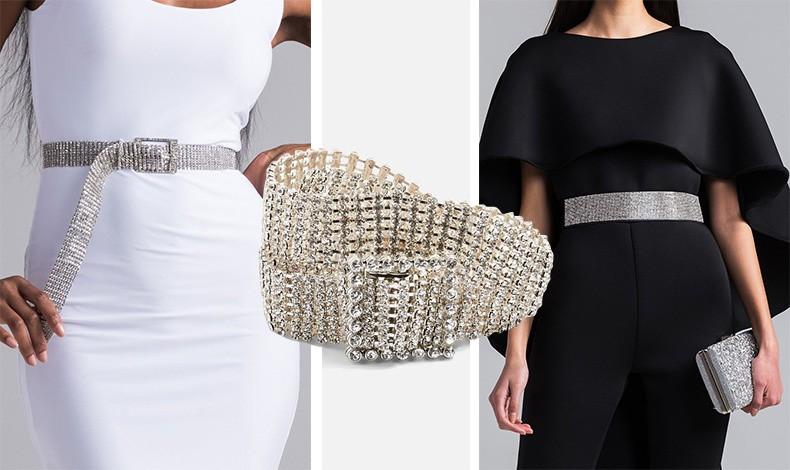 Δώστε λάμψη σε ένα απλό λευκό ή μαύρο φόρεμα με μία λεπτή ή πιο φαρδιά ζώνη με στρας
